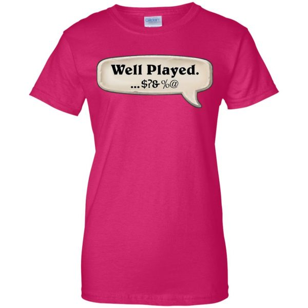 hearthstone well played womens t shirt - lady t shirt - pink heliconia