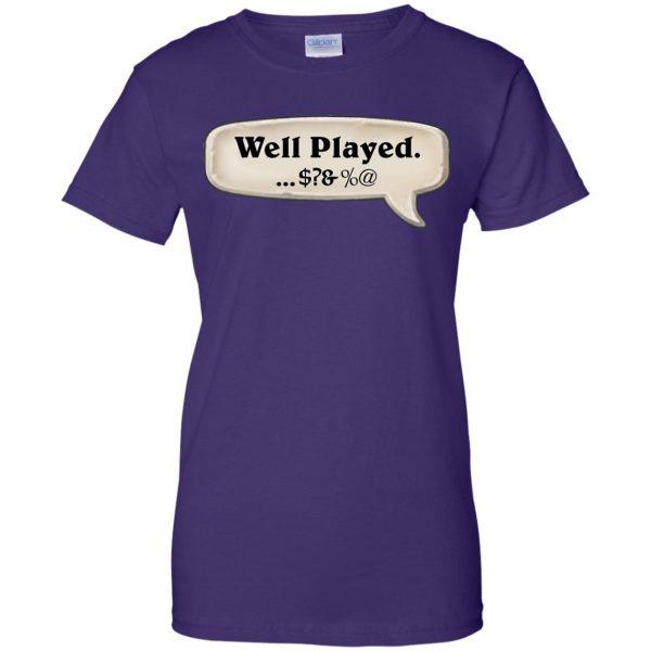 hearthstone well played womens t shirt - lady t shirt - purple