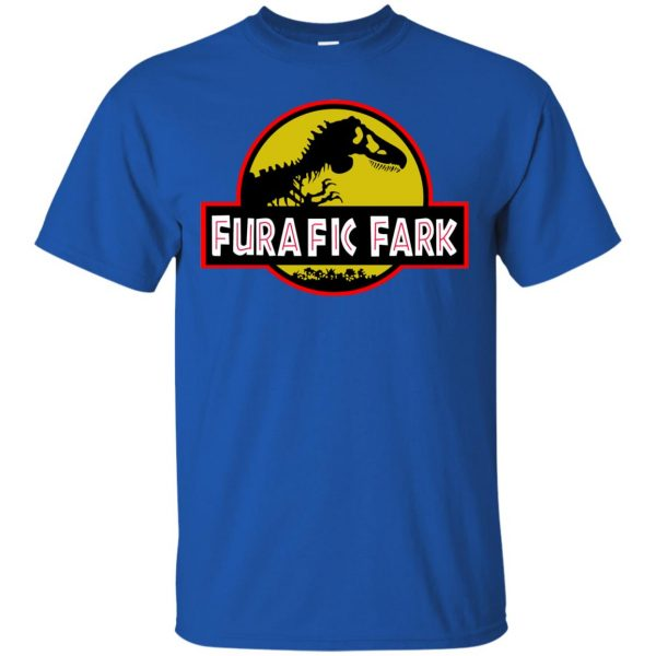 furafic fark t shirt - royal blue