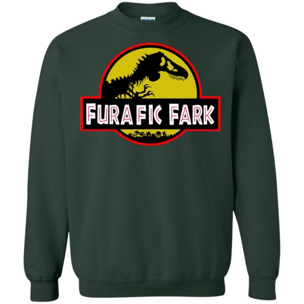 furafic fark sweatshirt - forest green