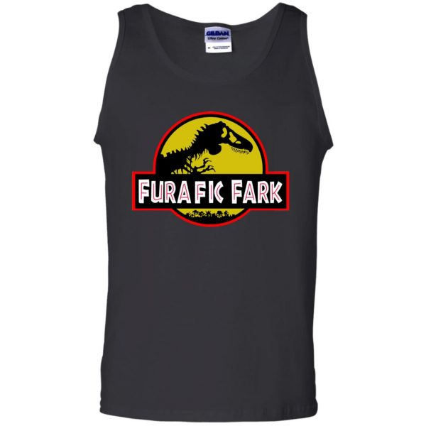 furafic fark tank top - black