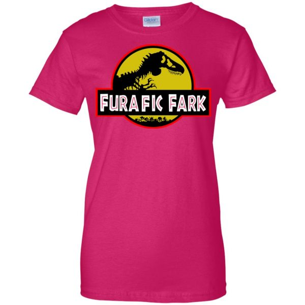 furafic fark womens t shirt - lady t shirt - pink heliconia