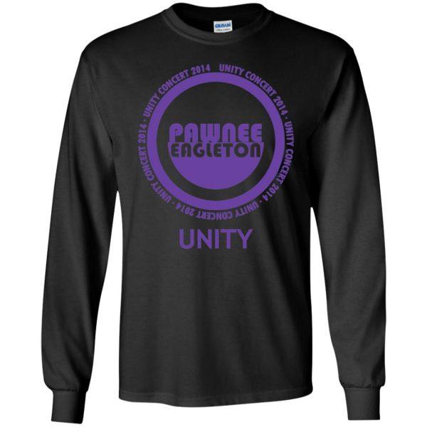 pawnee eagleton unity concert long sleeve - black