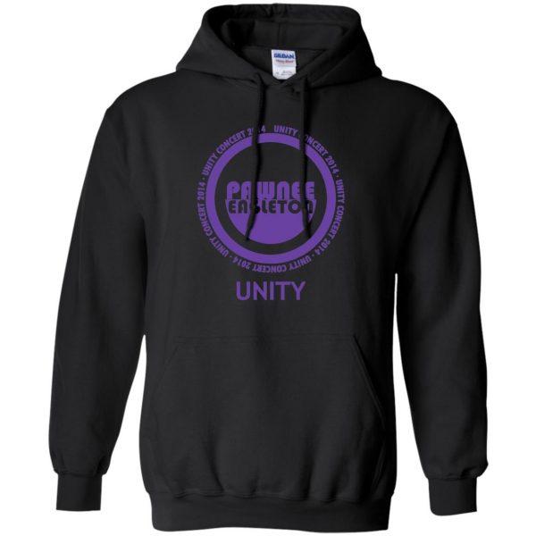 pawnee eagleton unity concert hoodie - black