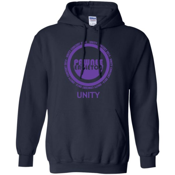 pawnee eagleton unity concert hoodie - navy blue