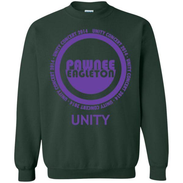 pawnee eagleton unity concert sweatshirt - forest green