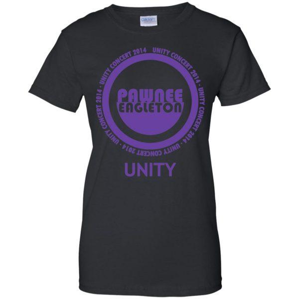 pawnee eagleton unity concert womens t shirt - lady t shirt - black