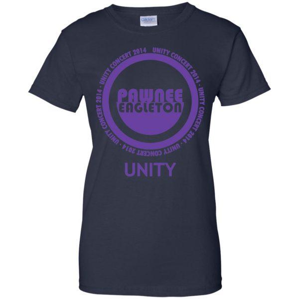 pawnee eagleton unity concert womens t shirt - lady t shirt - navy blue