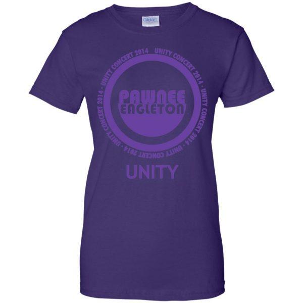 pawnee eagleton unity concert womens t shirt - lady t shirt - purple