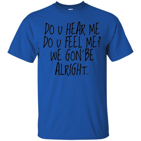 kendrick lamar alright t shirt - royal blue