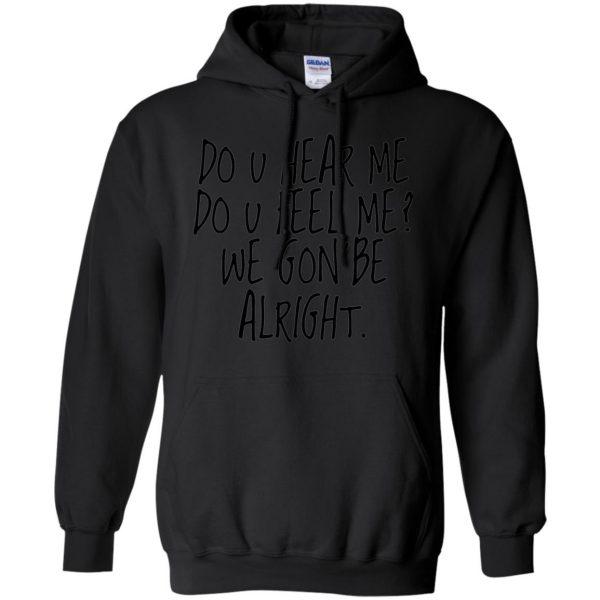 kendrick lamar alright hoodie - black