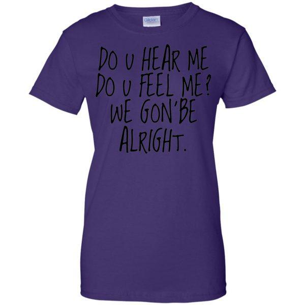 kendrick lamar alright womens t shirt - lady t shirt - purple