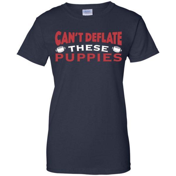 deflate these womens t shirt - lady t shirt - navy blue