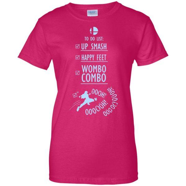 wombo combo womens t shirt - lady t shirt - pink heliconia