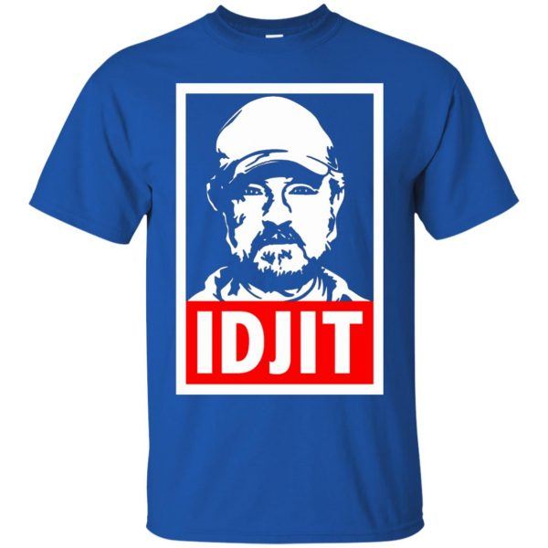 idjit t shirt - royal blue