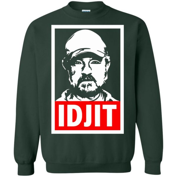 idjit sweatshirt - forest green