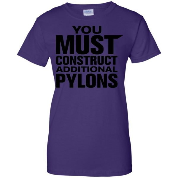 you must construct additional pylons womens t shirt - lady t shirt - purple