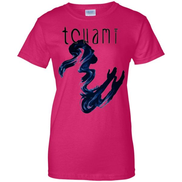 tchami womens t shirt - lady t shirt - pink heliconia