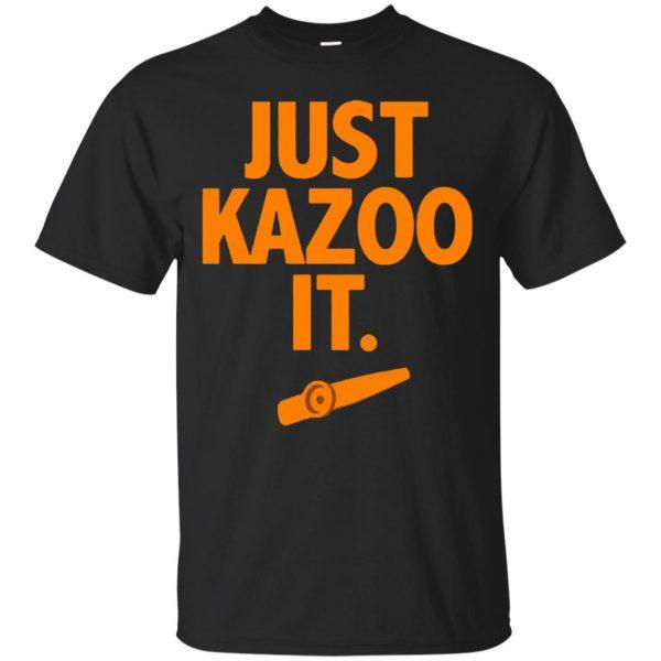 just kazoo it shirt - black