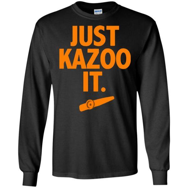 just kazoo it long sleeve - black