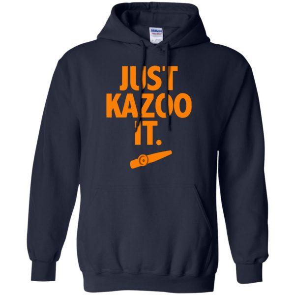 just kazoo it hoodie - navy blue