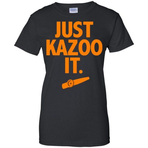 just kazoo it womens t shirt - lady t shirt - black