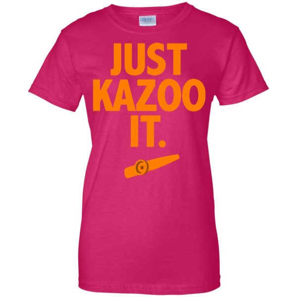just kazoo it womens t shirt - lady t shirt - pink heliconia