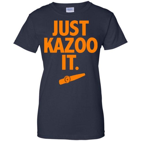 just kazoo it womens t shirt - lady t shirt - navy blue