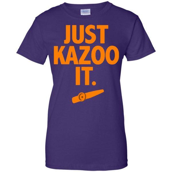 just kazoo it womens t shirt - lady t shirt - purple
