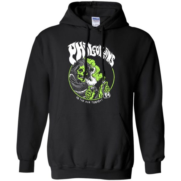 phil collins metal hoodie - black