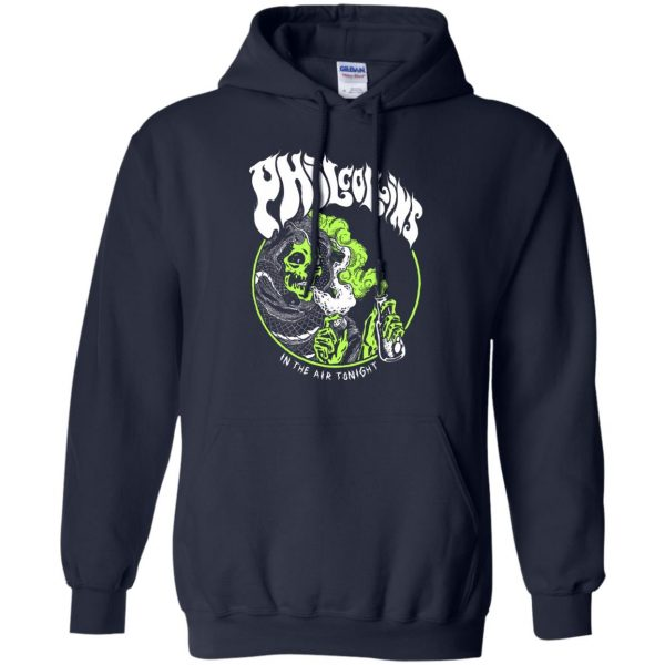 phil collins metal hoodie - navy blue