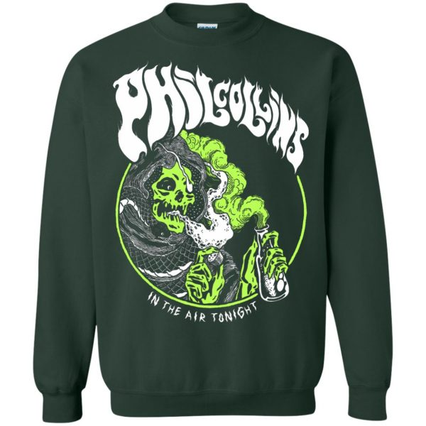 phil collins metal sweatshirt - forest green