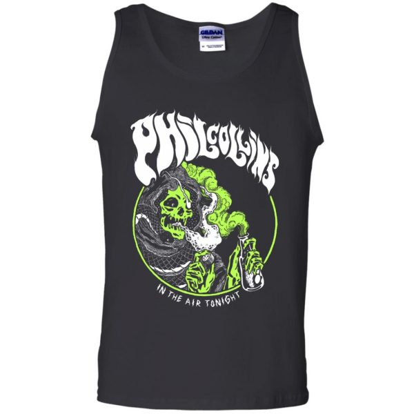 phil collins metal tank top - black