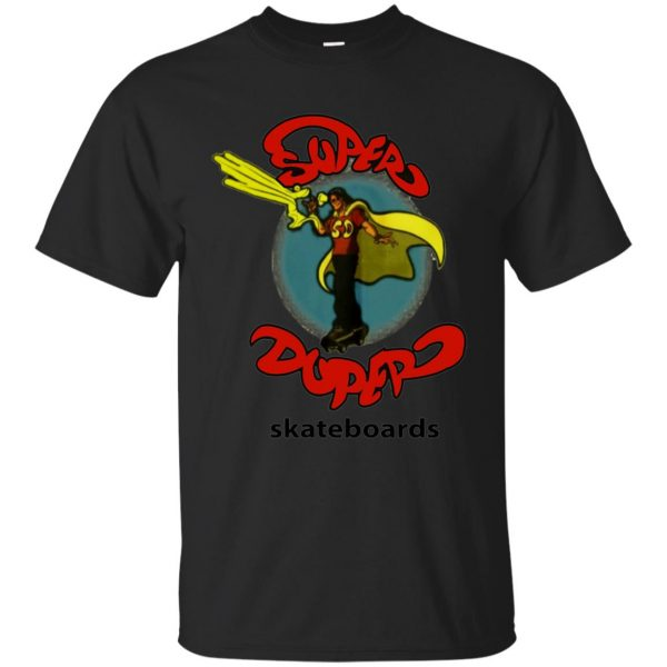 super duper skateboards t shirt - black