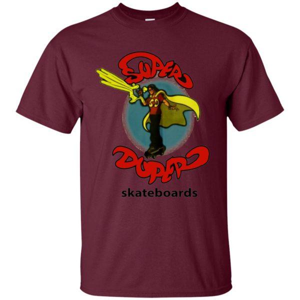 super duper skateboards t shirt - maroon