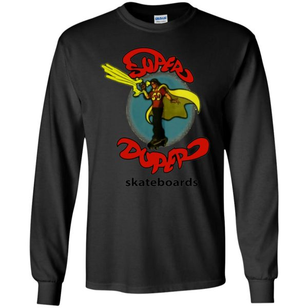 super duper skateboards long sleeve - black