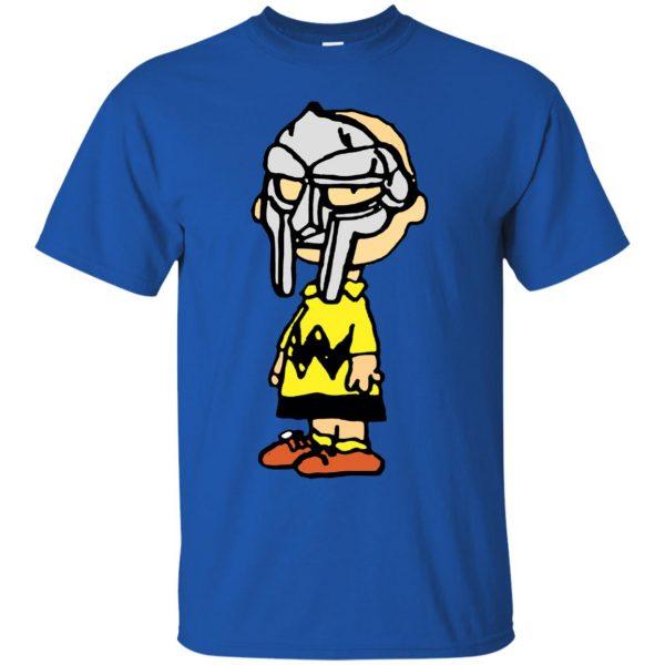 mf doom charlie brown t shirt - royal blue