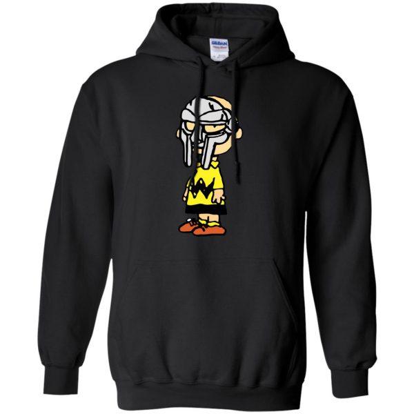 mf doom charlie brown hoodie - black