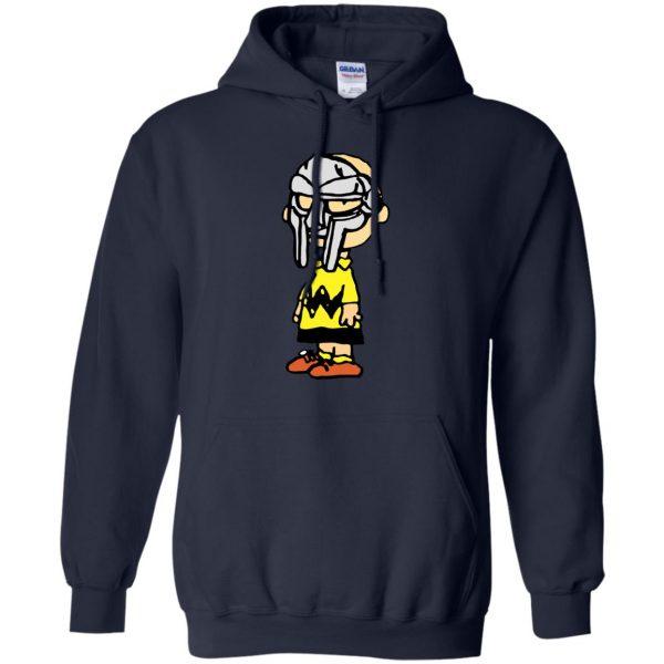 mf doom charlie brown hoodie - navy blue