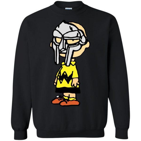 mf doom charlie brown sweatshirt - black
