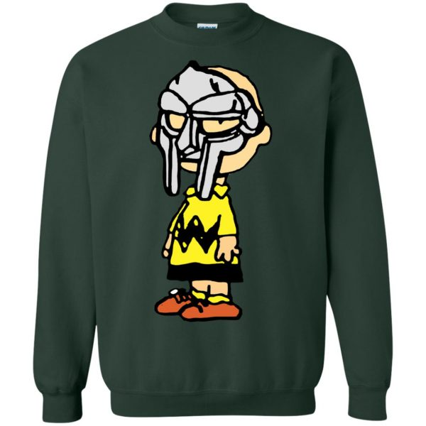 mf doom charlie brown sweatshirt - forest green