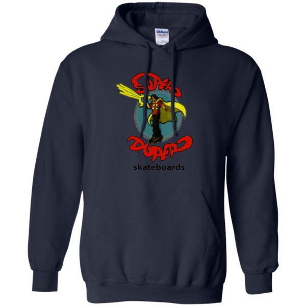 super duper skateboards hoodie - navy blue