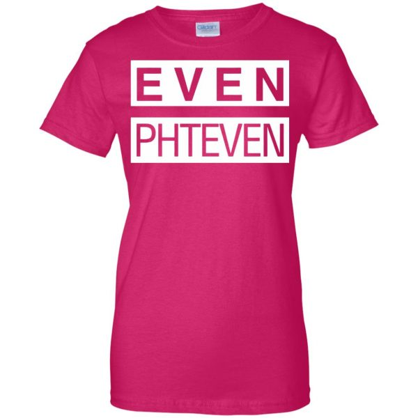 phteven womens t shirt - lady t shirt - pink heliconia