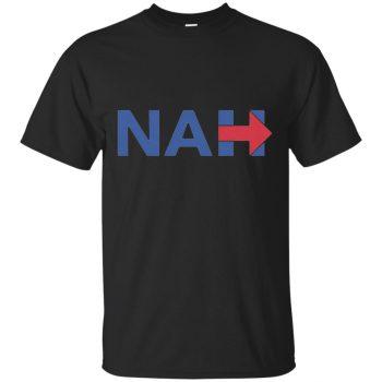 nah hillary shirt - black