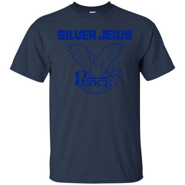silver jews t shirt - navy blue