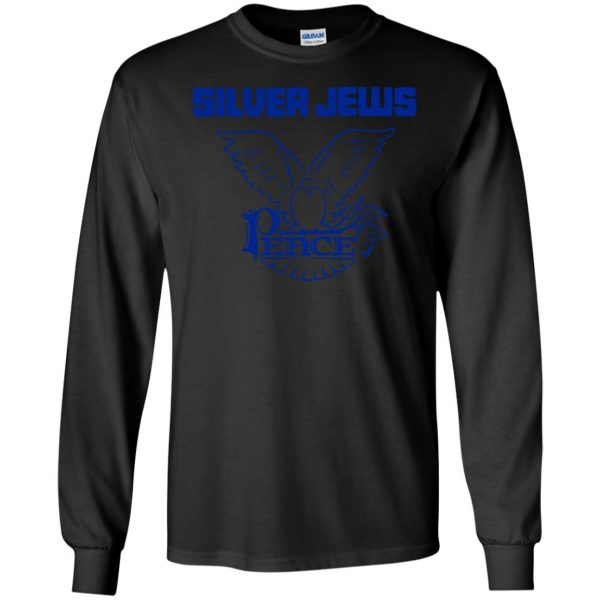 silver jews long sleeve - black