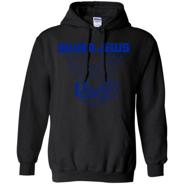 silver jews hoodie - black