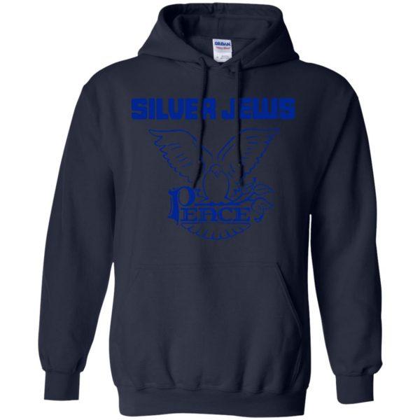 silver jews hoodie - navy blue