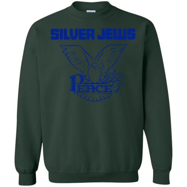 silver jews sweatshirt - forest green