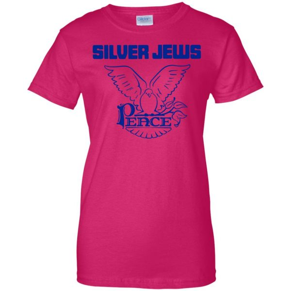 silver jews womens t shirt - lady t shirt - pink heliconia